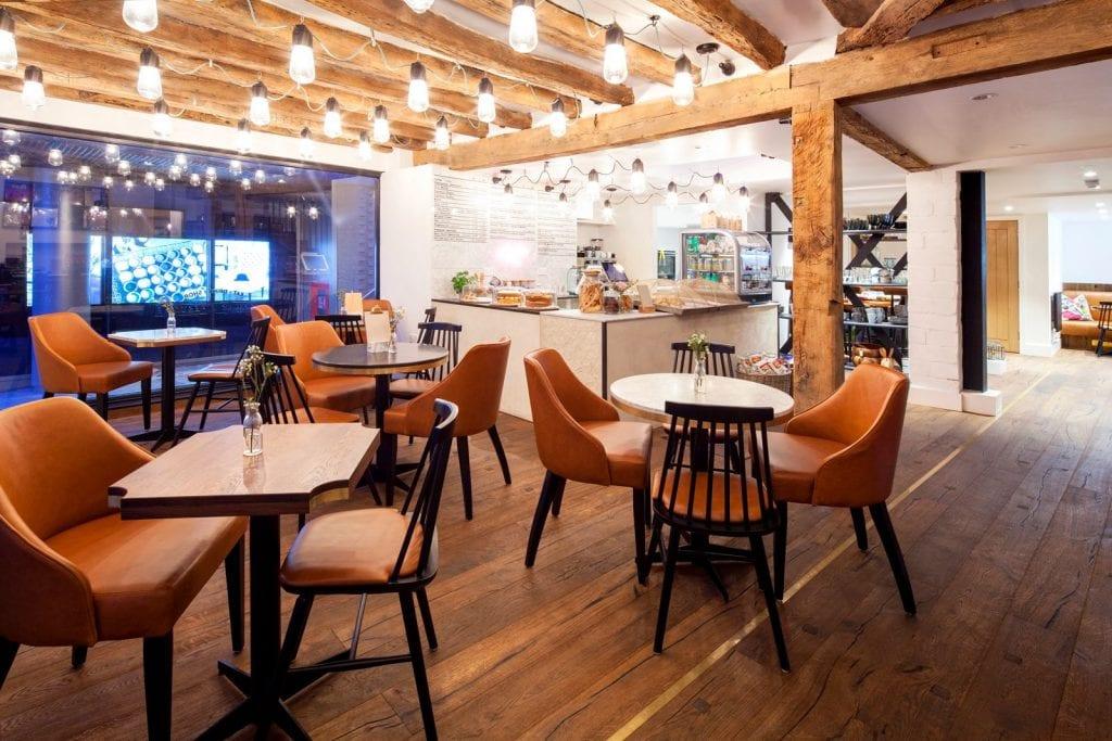 Coffee shop interior design and brand identity