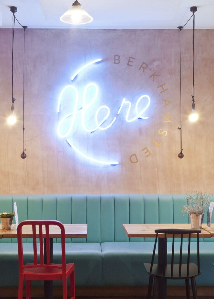 Coffee shop brand identity and interior design