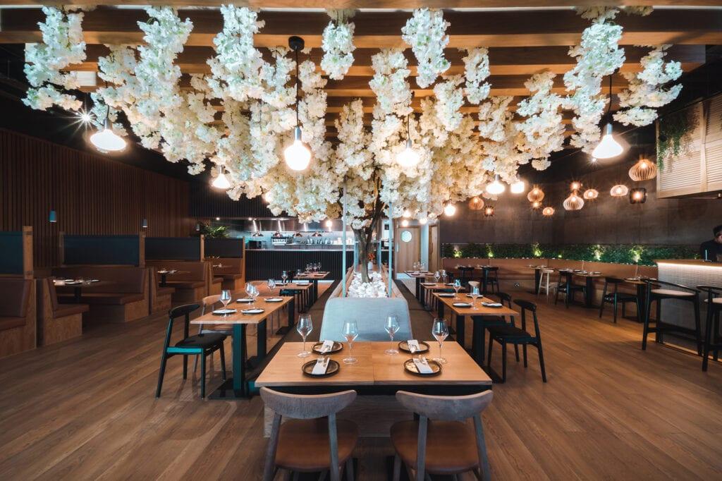 Asian Restaurant Interior Design Focal Area